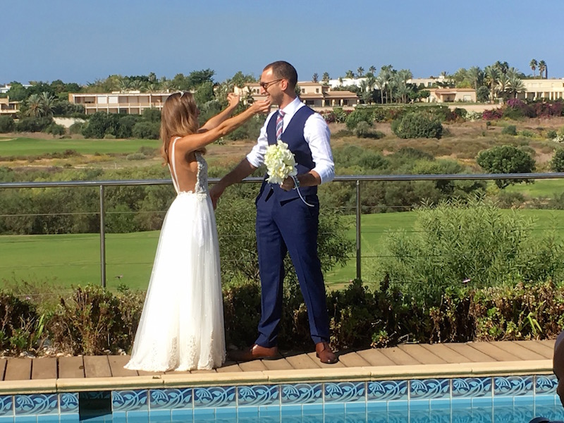 Bride Meets Groom at Casa Cala
